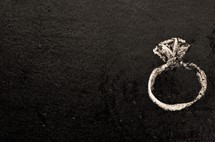 chalk drawing of a diamond ring