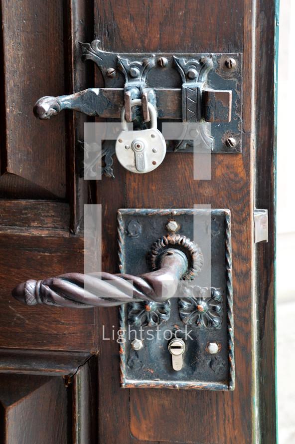 Antique door lock.
