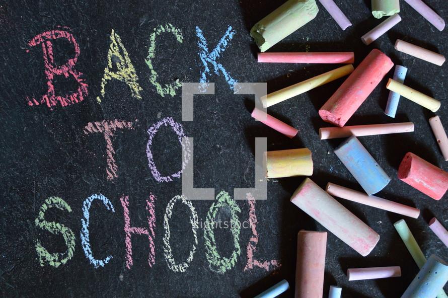 back to school and sidewalk chalk.