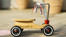 vintage wood radio flyer scooter