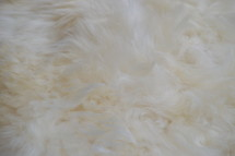 soft white fur rug