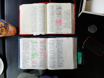 notes in a Bible