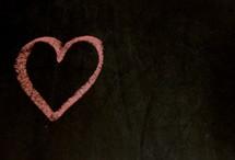 heart in chalk