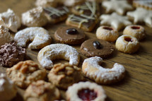 cookie assortment up close