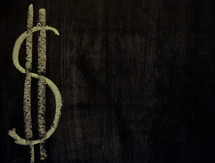 chalkboard money sign $