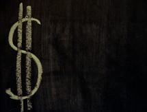 chalkboard money sign $