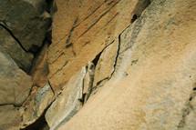 cracks in rock