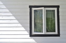 window and siding of a house