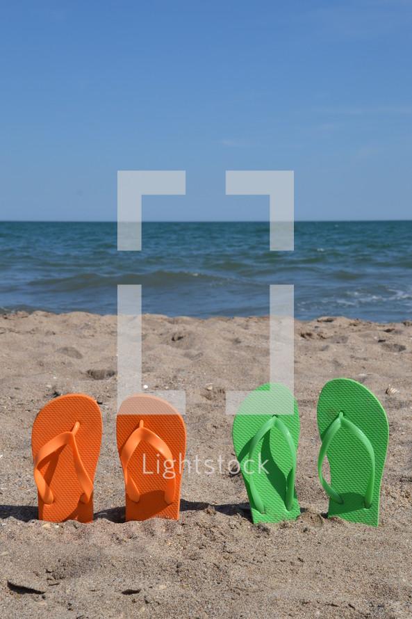 summer vacation at the beach