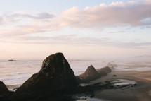 rock formations along a coastline