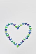 hearts forming a heart shape