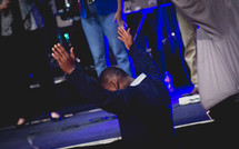 praise and worship during a worship service