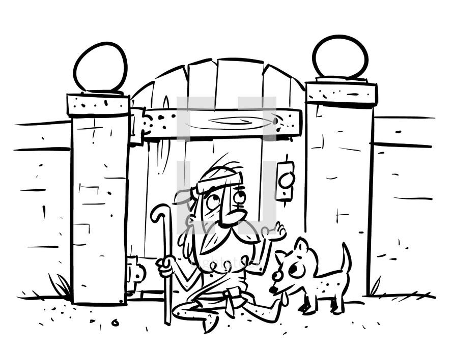 Lazarus and dog