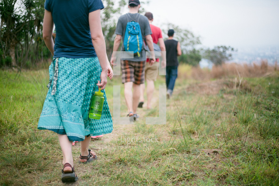 hiking on a nature trail