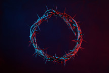 Colored Crown Of Thorns On A Dark Background