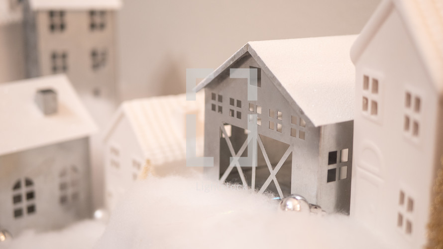 small houses used for a Christmas decorations