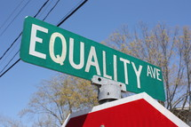 Equality Ave street sign