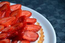 Strawberry tart,.