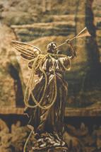 Christmas nativity figurine angel with trumpet