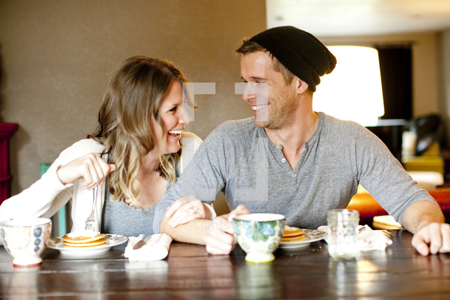 couple eating breakfast together