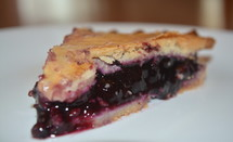 Slice of blueberry pie.