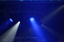 spotlights at a concert