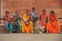 Women and children in India [For similar images try search for Ethnic Faces]