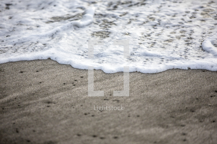 tide washing onto a shore