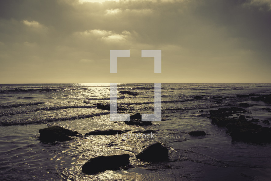 tide washing onto the shore