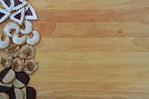 Christmas cookies border or frame.