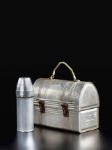 metal canteen and lunch box