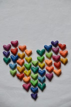 many little colorful hearts shaping a big heart. 