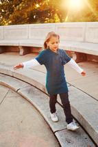 girl child balancing