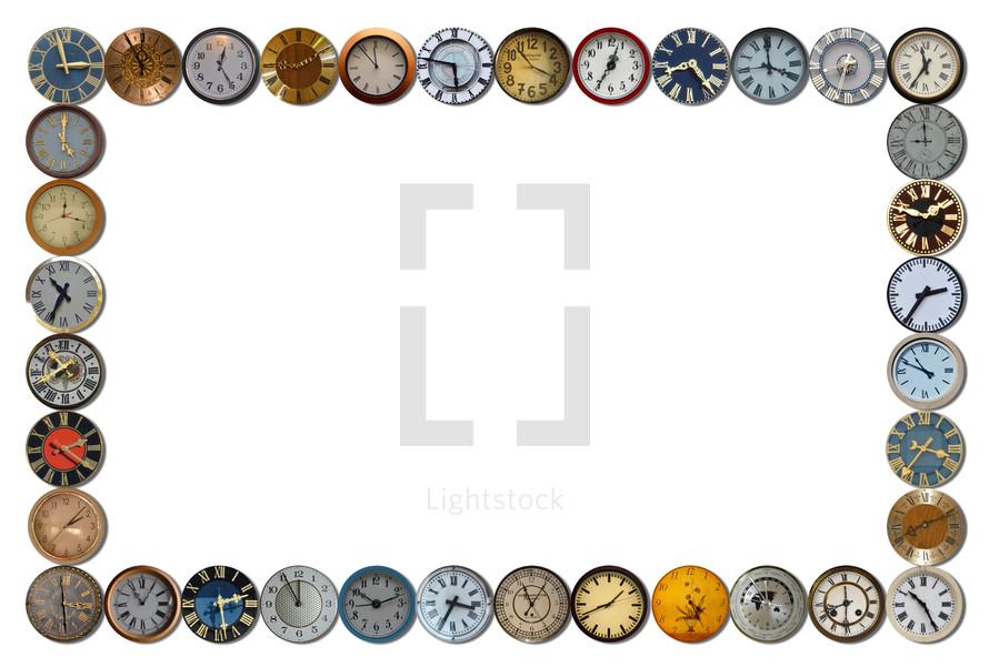 clocks border
