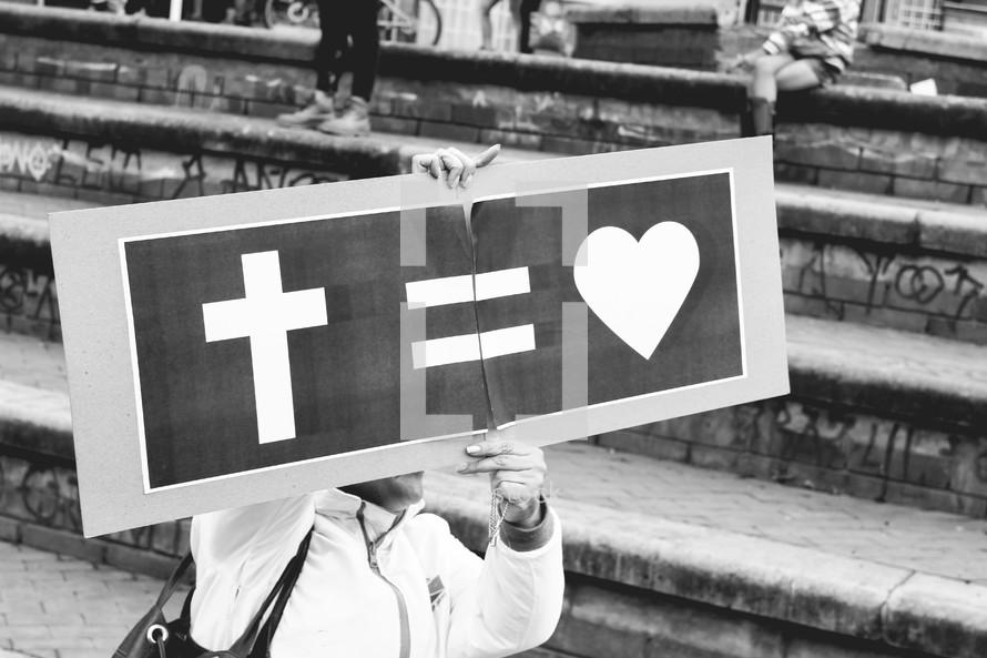 God equals Love sign