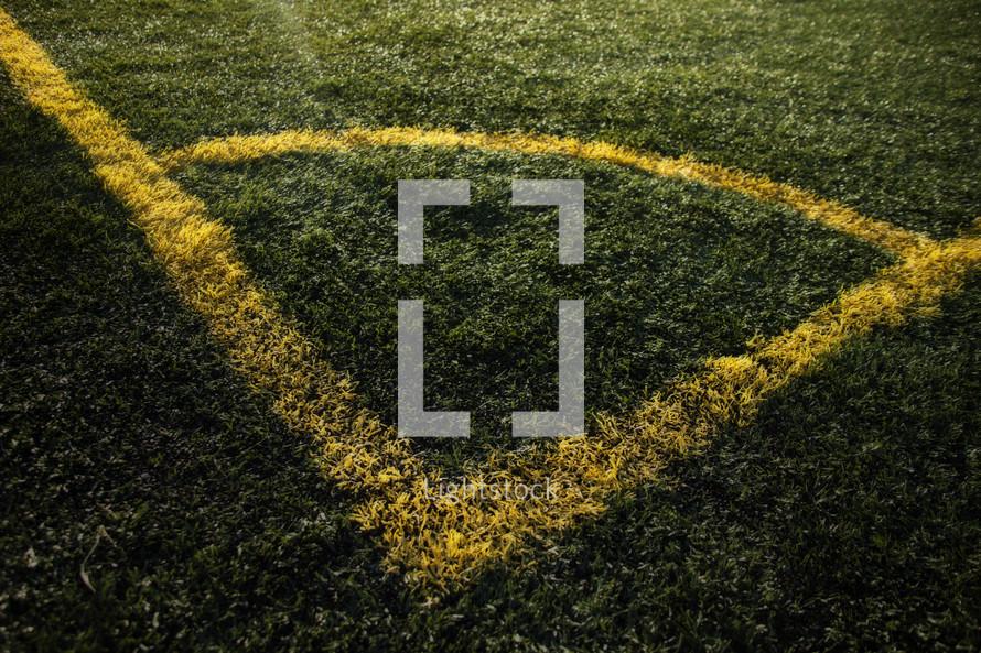 soccer field corner