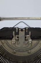 thank you on a typewriter