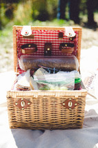 A full picnic basket.