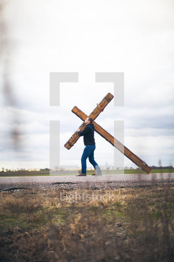 bearing the cross - re-enacting Christ's walk
