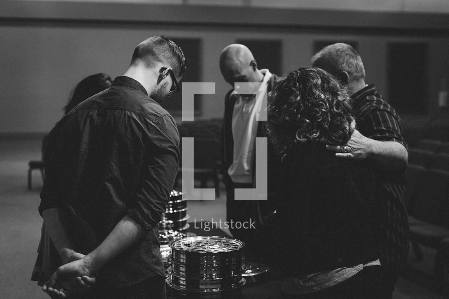 prayer around communion trays
