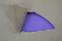 purple under torn paper
