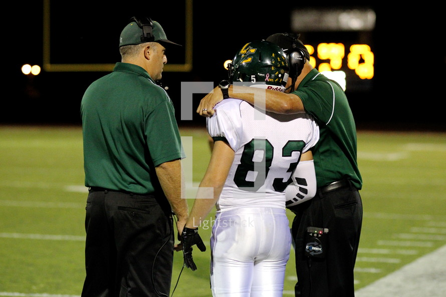 coach and football player