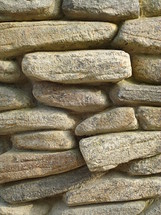Wall out of stones.