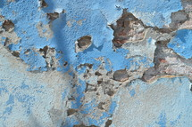 peeling paint and crumbling concrete