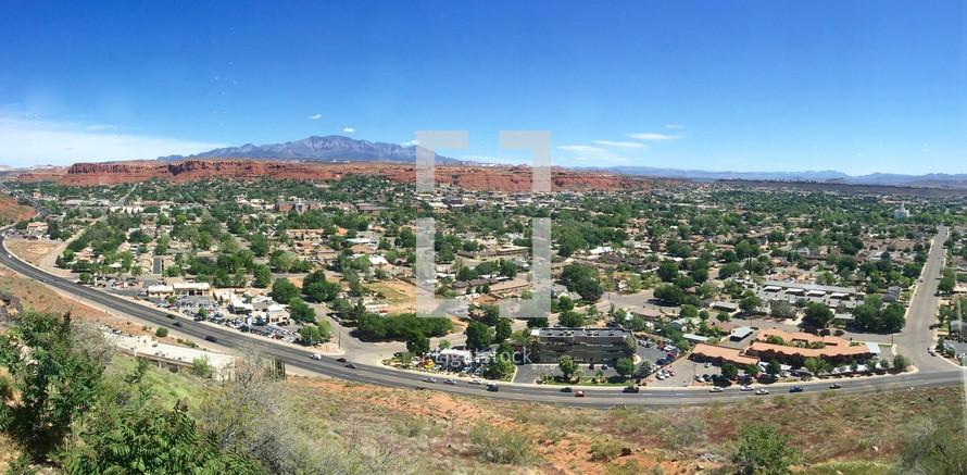 view of St. George, Utah