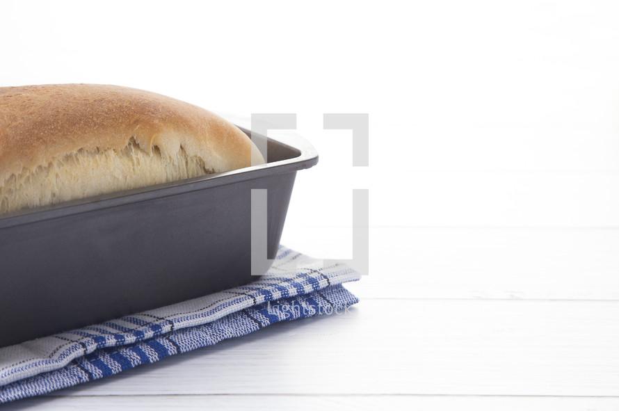 bread in a pan