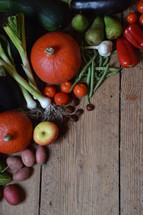 Celebrate the Festival of Harvest. harvest, thanksgiving, thanks, fruits, fruit, first, firstfruit, crops, field, festival, exodus, vegetable, vegetables, autumn, fall, greenstuff, crop, yield, harvesting, rich, bountiful, plentiful, plenty, bounteous, gather, reap, bring in, produce, abundant, abundance, present, thanks giving, harvest festival, november, pumpkin, zucchini, courgette, potato, garlic, tomato, cucumber, apple, chestnut, bell pepper, pear, pepper, sweet pepper, leek, allium, eggplant, bean, garden, gardening, floor, desk, table, wood, wooden, food, eat, eating, groceries, grocery, nourishments, nourishment, biomaterials, biomaterial, biological, organic, biologic, biologically, red, green, orange, pumpkins, zucchinis, courgettes, potatoes, tomatoes, cucumbers, apples, chestnuts bell peppers, pears, peppers, sweet peppers, leeks, alliums, eggplants, beans, season, table