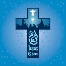 Jesus is born cross
