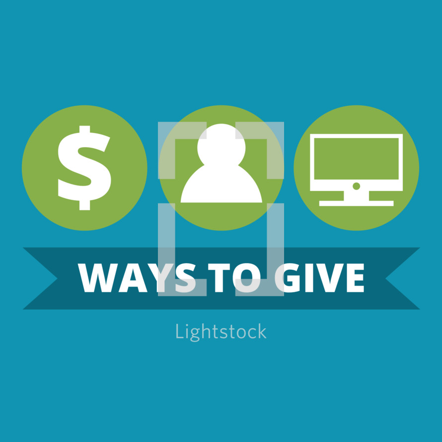 Ways to Give editable graphic for offering or fundraiser