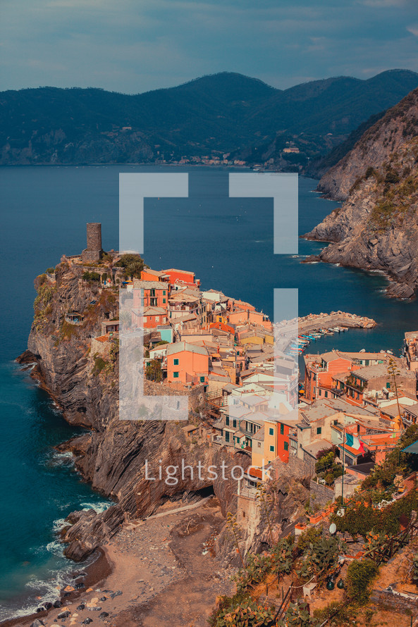 Cinque Terre -- a rugged portion of coast on the Italian Riveria in the Liguria region of Italy.
